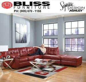 Fabric / Leather Sectional/Recliner Sofa Set