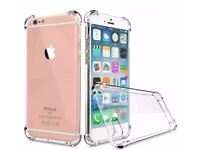 Iphone 7 Clear Jelly Silicone Case with Bumper