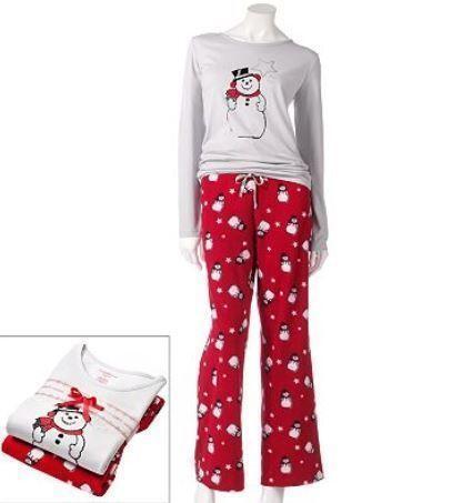 Womens Snowman Pajamas