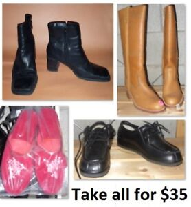 Size 6 and 6 1/2 (6.5) Ladies Shoes Lot (Take all for $35)