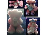 Build a Bear job lot - very cute pink bear plus lots of clothes/accessories