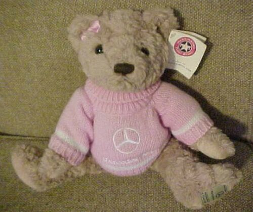Mercedes-Benz Herrington Bear 2003 Girl Teddy Bear - Pink Sweater - Tags