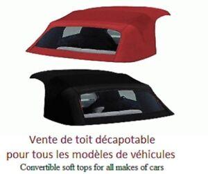 Toit décapotable, toit convertible pour tous modèles d'autos