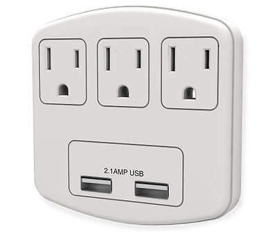 Accell model d080b 019k 3 ft powersquid jr outlet multiplier dealtrend - Electrical outlet multiplier ...