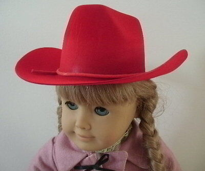 "Lovvbugg Red Cowboy Western Hat for 18"" American Girl Doll Clothes Accessory"