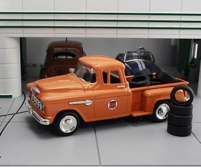 New In Box  1 43 1955 Chevrolet Stepside  Pickup Phillips 66  With 10 Tires