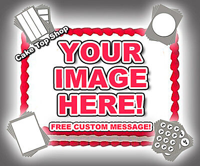 Your Photo Logo Edible Cake Image Custom Cake Topper Frosting Sheet Personalized