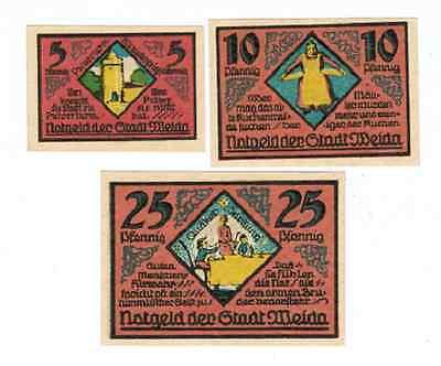 Set Of 3 Germany Notgeld 5 10 25 Pfennig Stadt Weida 1921 Unc