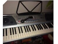 FineTune Electric Keyboard with Stand and Mic