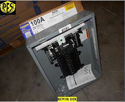 NIB SQUARE D QO120M100 100 AMP SINGLE PHASE INDOOR LOAD CENTER 20 CKT MAIN BREAK