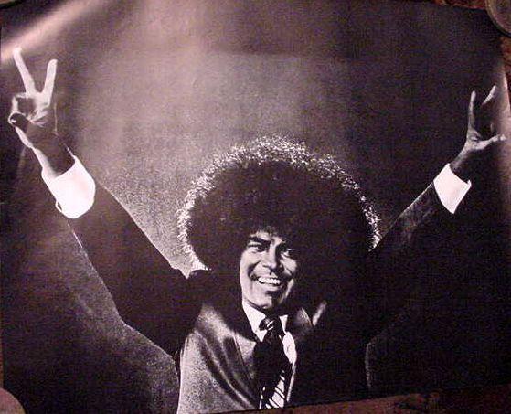 Vintage 60s 70s  Richard Nixon Poster Peace Sign art Original Black and White