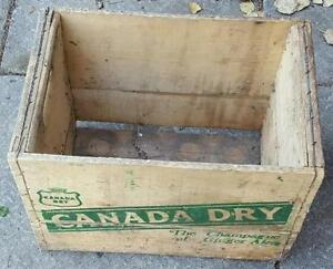 RP2188 Vintage Canada Dry Ginger Ale Soda Pop Wood Wooden Crate Kawartha Lakes Peterborough Area image 2