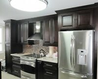 Renovation your kitchen with Solid wood and Quartz countertop