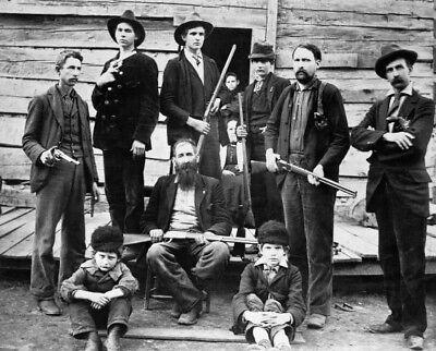 Hatfield-McCoy Feud PHOTO Hatfield Clan Family KENTUCKY, West Virginia Civil War