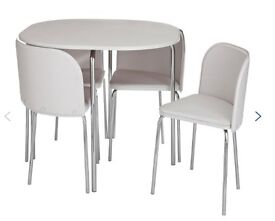 'Hygena Amparo ' Table & 4 upholstered chairs in great condition.