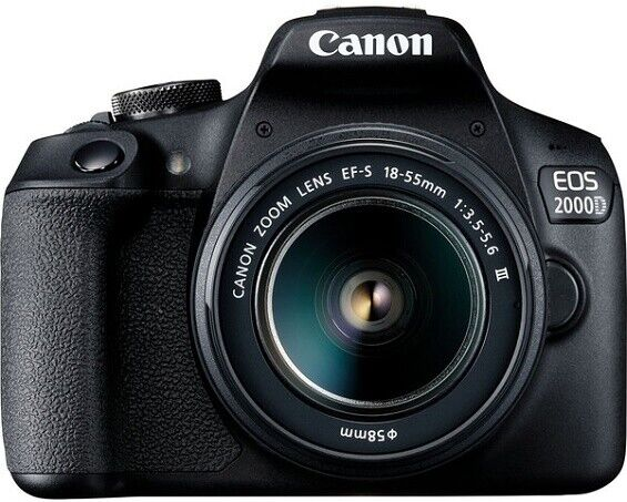 Canon EOS 2000D / Rebel T7 DSLR Camera w/ 18-55mm DC III Lens