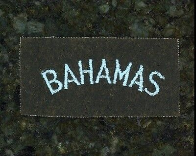 "WWII British Tab ""Bahamas""."