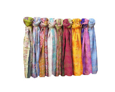 15 Pc Lot Vintage Kantha Handmade Scarf Fashion Bandana Assorted Cotton Stole