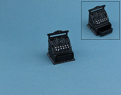 1:12 Scale Dollhouse Miniature Black Metal Cash Register #MUL1010
