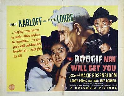 THE BOOGIE MAN WILL GET YOU Movie POSTER 22x28 Half Sheet](Boogie Man Movie)
