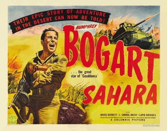 SAHARA Movie POSTER 30x40 Humphrey Bogart Lloyd Bridges Rex Ingram Bruce Bennett