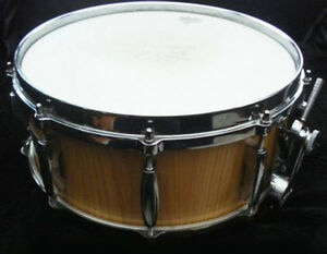 Snare Drum Custom Stave Shell Ludwig Hardware Like New