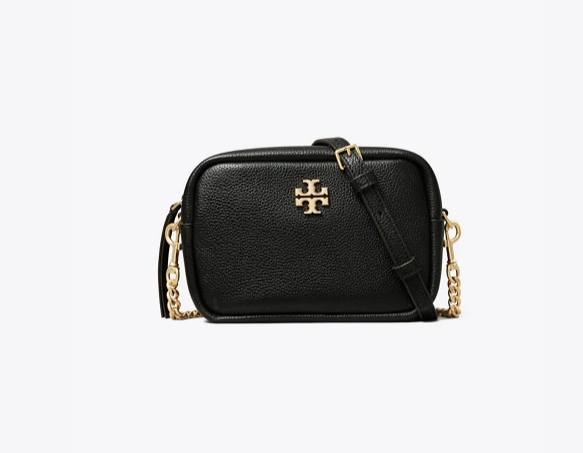 Tory Burch NEW Limited Edition Black Strap Leather Chain Mini Bag 258