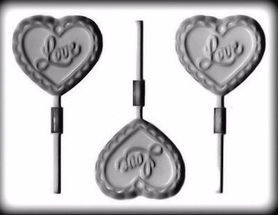 Fliigree Heart Valentine Hard Candy Lollipop Mold from CK #1218 - NEW
