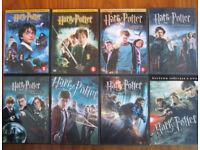 All 8 Harry potter dvds