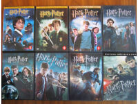 Harry Potter dvds (all 8 films) plus Twilight dvds