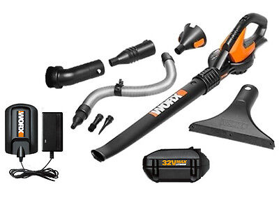 WG575.1 32V Max Lithium Cordless Blower/Sweeper + ...