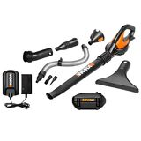 WG575.1 Worx 32V Max Lithium Cordless Blower/Sweeper + 8 Attachments