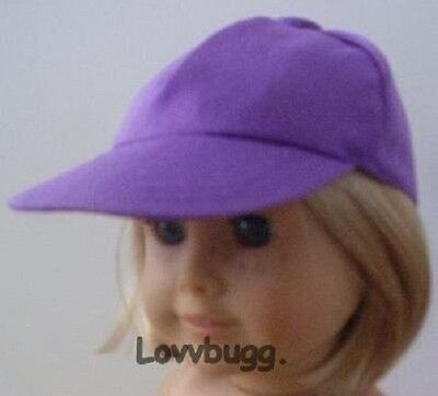 "Lovvbugg Purple Lavender Baseball Hat Cap for 18"" American Girl Doll Clothes"