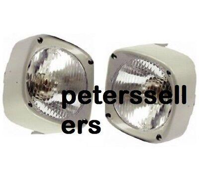 Head Light Lamp With Cowl Pair Lh Rh Massey Ferguson Tractor 135 165 185 New