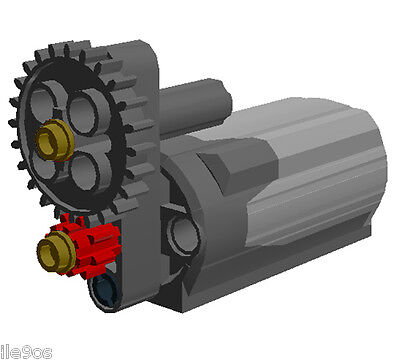 Lego Power Functions M Motor With Speed Reducer    Power Increase Gears Assembly