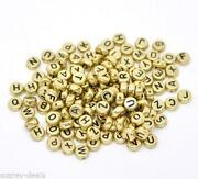 Gold Letter Beads