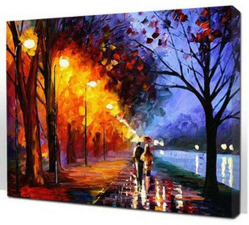 Paint by number kit ebay for Pre printed canvas to paint for adults