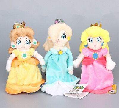 3 Super Mario Prinzessin Princess Peach Daisy Rosalina Plüsch Puppe Plüschtier ()