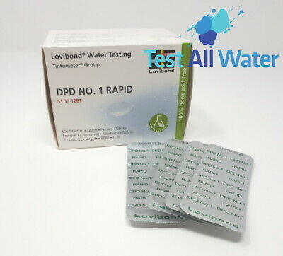 Lovibond DPD No 1 Rapid Dissolve Tablets. 500 tablets