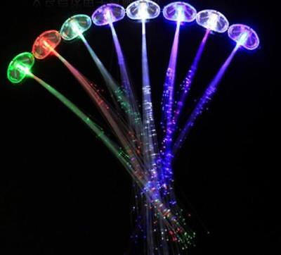 LED Hair Light  Flashing Fiber Optic Hair Braid Barrettes light up Party Toys - Fiber Optic Toy