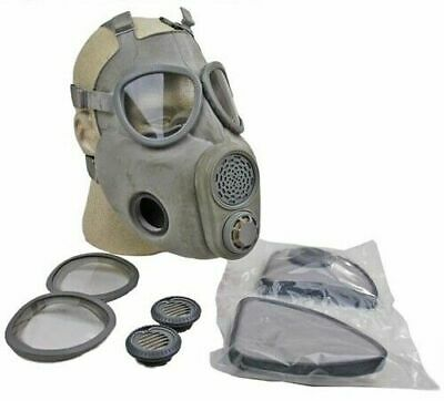 Size 3 Large Xl Full Face M10 Nbc Gas Mask Respirator Military W Filters Bag