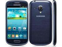 S3 MINI - UNLOCKED - 8GB - BLUE - FROM SHOP - £69