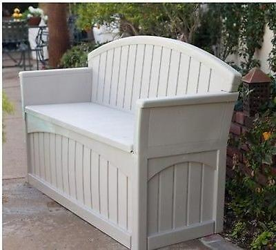Outdoor Storage Bench Garden Pool Deck Box Weatherproof Patio Furniture Seat New
