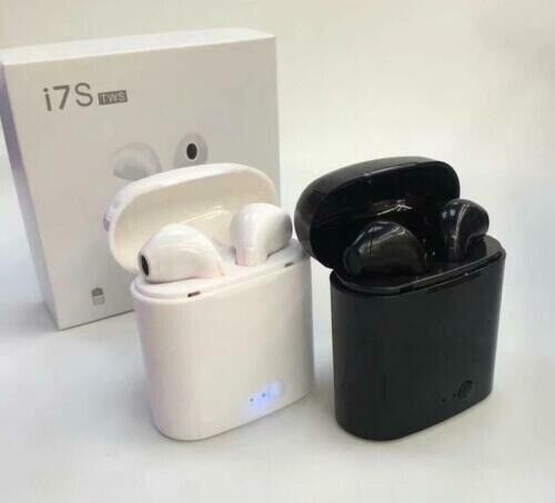 TWS I7S Wireless Bluetooth Earphones With Charging Box -WHITE OR BLACK  Brand New | in Wells, Somerset | Gumtree