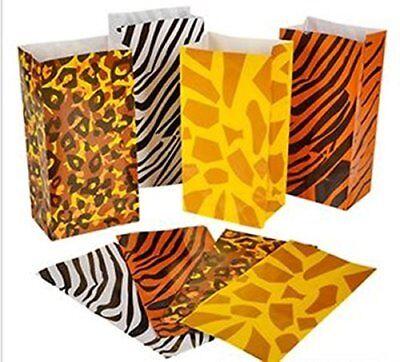 Safari Pinata (12 Wild zoo safari Animal print gift & Party Favor Pinata goody bags)
