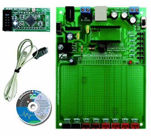 ATmega168 Prototype Board, ISP, Arduino Bootloader, RS232