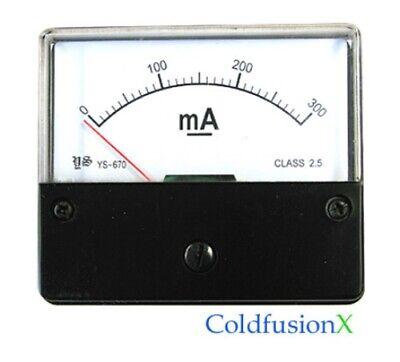 New Dc 100ma 200ma 300ma Analog Current Amp Meter