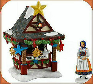 Christmas Market Tree Topper Booth Lit NEW Alpine Village Dpt.