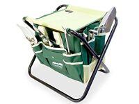 GardenHome Folding Stool Bag & 5 Gardening Tools