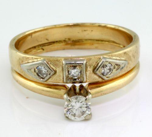 Antique Diamond Wedding Band | eBay